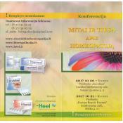 """Konferencija """"Mitai ir tiesa apie homeopatiją"""""""
